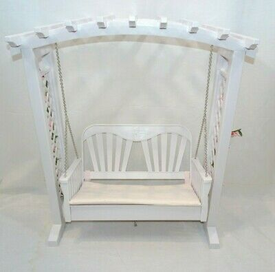 American Girl Blaire White Trellis Swing Porch Doll Flowers