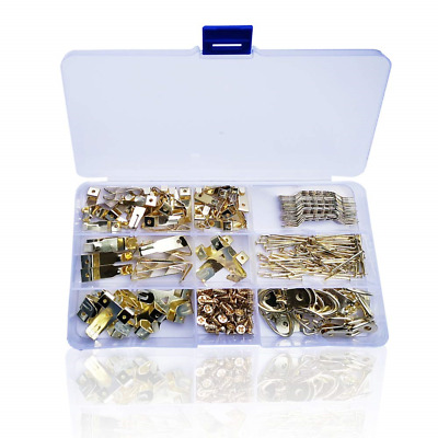Picture Hanging Kit, 235pcs Heavy Duty Assorted Picture Hangers with Screws for