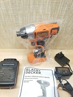 Black & Decker 20v Impact  With Battery & Charger BDC1202