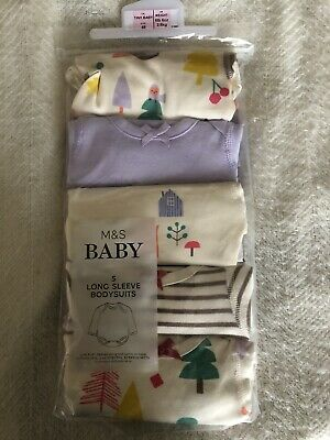 baby Long Sleeved bodysuits . Marks & Spencers newborn
