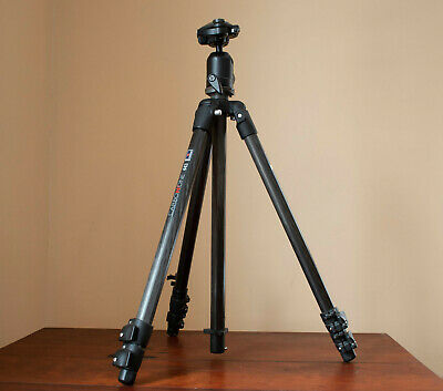 Manfrotto Carbon One 443 tripod with ballhead and quick-release plate. Excellent