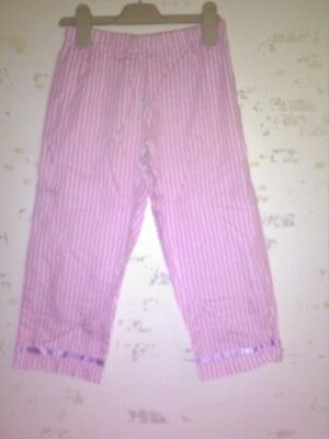 George Pink And White Stipe Trousers Age 8-9 Years