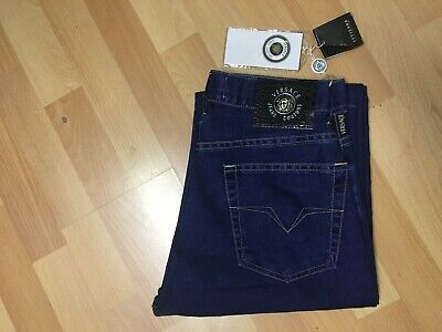 NWT BOYS VERSACE COUTURE MADE ITALY BY ITTIERRE SOFT DENIM Jeans BLUE W27 L34 H7