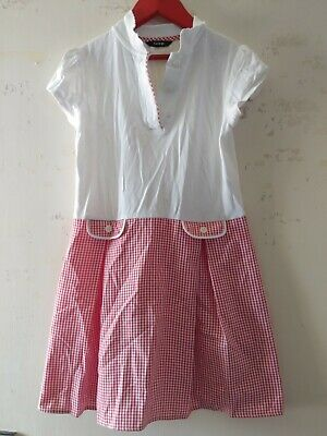 George Girls School Dress Red And White Checked Aged 7-8 Years