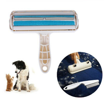 2-Way Pet Hair Remover Roller Lint Sticking Dog Hair from Furniture Carpet. XM