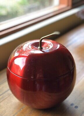 Vintage Retro Red Apple Anodised Ice Bucket - Gr8 Cond - Mid Century Australia