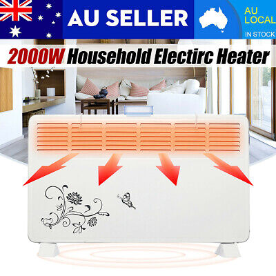2000W Bathroom Fan Heater 6 Air Outlet Convector Wall Mounted Pull Cord 2 Speeds