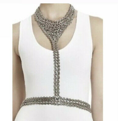 BCBG MAX AZRIA Silver Body Chain One Size New wo Tags