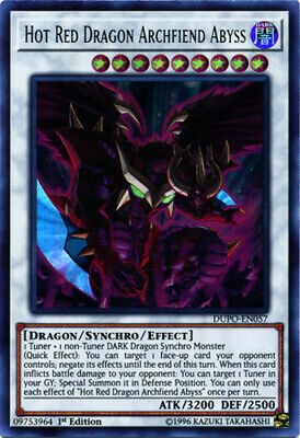 Hot Red Dragon Archfiend Abyss - DUPO-EN057 - Ultra Rare - 1st Edition x3 - Near