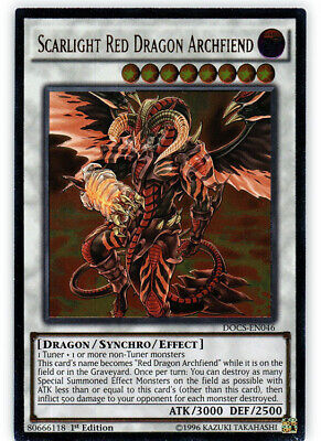 Scarlight Red Dragon Archfiend - DOCS-EN046 - Ultimate Rare - 1st Edition x1 - N