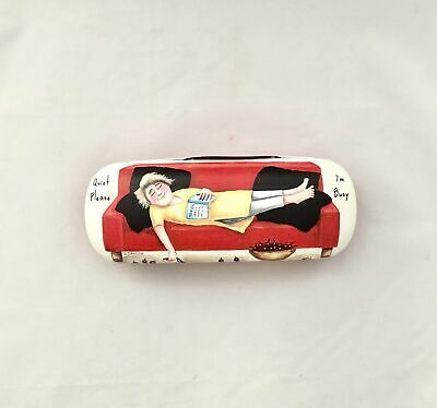 Glasses Case - 'Quiet Please' Sue Janson Australia Design