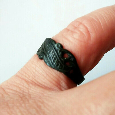 Ancient Bulgarian Rememberance Bronze Ring w/Inscription