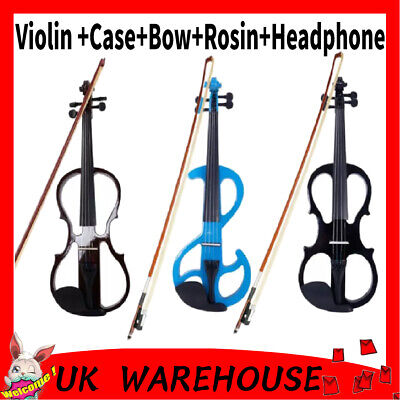 Black Friday Multi Colors 4/4 Size Acoustic Maple Violin Set For Students NEW