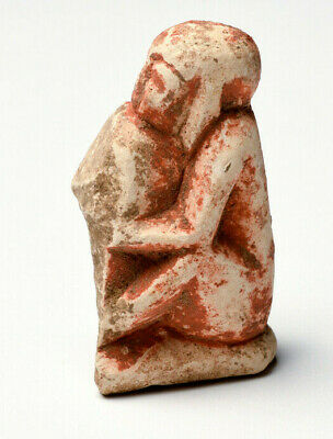 Ancient Egypt Stone Seated Male Icthyphallic Figure. Rare. 3rd-1st century BC