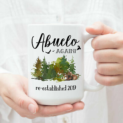 Abuelo Again Mug Pregnancy Reveal Gift For Grandparents Baby Announcement Coffee