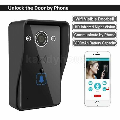 Wireless PIR Camera DoorBell Remote WiFi Home Security HD Video Phone Connecting