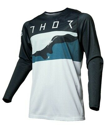 Thor Prime Pro Fighter Blue Camo MX Motocross Offroad Race Jersey Adults