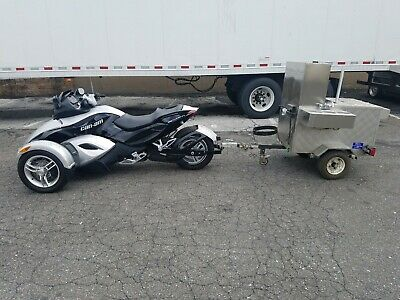 Motorcycle & Hot Dog Cart Trailer Concession Food Vending Stand Sold Together