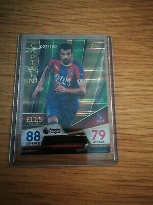 007/100 Match attax Ultimate 2018/19 MILIVOJEVIC C. Palace Green CAPTAIN Card