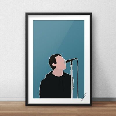 Liam Gallagher INSPIRED WALL ART Print / Poster A4 A3 oasis noel high flying