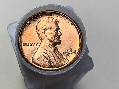 1964 D Lincoln Memorial Cent Penny Roll BU Uncirculated 50 Coins