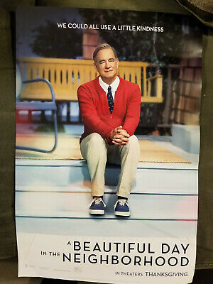 """A Beautiful Day In The Neighborhood Movie Poster (17.5"""" x 12"""") Double sided"""