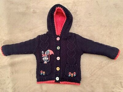 George Toddler Girl's Snuggly Thick Hooded Cardigan