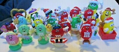 Big lot of 21 M&M candy toppers: Christmas Easter Valentine's Day