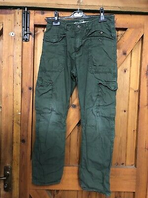 H And M Size 12/13 Fatigue Military Stule Cargo Pant In Khaki