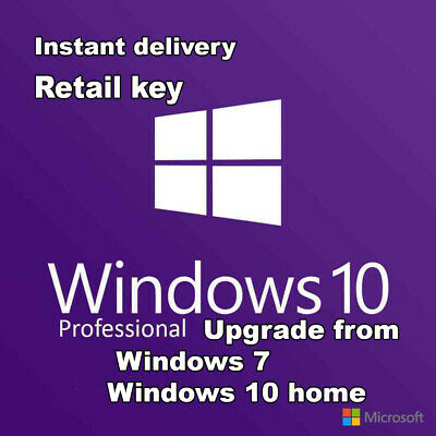 Microsoft Windows 10 Pro Key Win 10 Pro 32/64bit Instant delivery