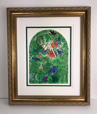 "/"" MARC CHAGALL Lithograph JERUSALEM WINDOW 1963 Vintage /""THE TRIBE OF BENJAMIN,"