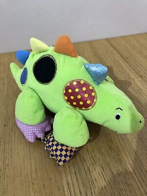 Boots Denzel Dinosaur Sensory Fabric Baby Activity Soft Toy Vgc