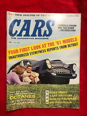 September 1960 Cars Automotive Magazine Hot Rods Super Stocks Customs