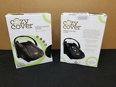 Cozy Cover Infant Carrier Cover - Secure Baby Car Seat Cover - Quilted Black