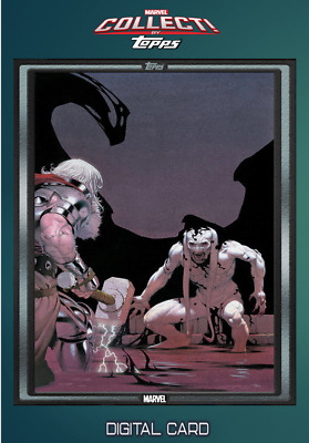 2019 COMIC BOOK DAY NOV 20 SILVER BASE KING THOR #3 Topps Marvel Collect Digital