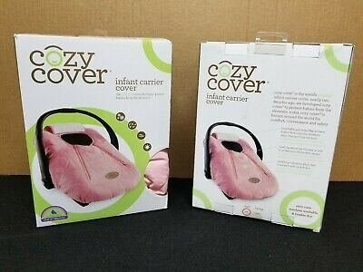 Cozy Cover Infant Carrier Cover - Secure Baby Car Seat Cover - Quilted Pink