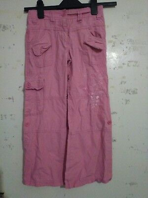 Matalan Girls Pink Trousers Aged 7years