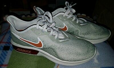 Mens Nike Air Max Sequent 4, Light Bone w/Red (AO4485-007) Training Shoes Size 9