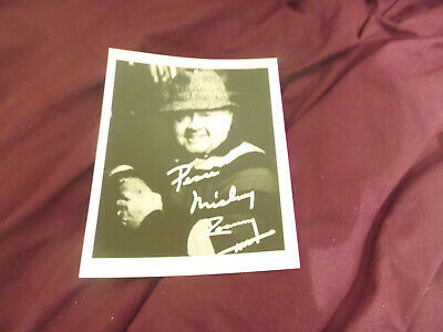 10 x 8 - HAND SIGNED - MICKEY ROONEY - UNDEDICATED - AFTAL - COA