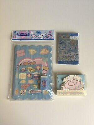 Vintage Sanrio Cinnamoroll Stationery Lot Notebook, Stickers, Cards, Brand New