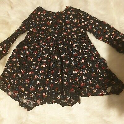 girls 9-12 months floral long sleeve tunic dress smart winter clothes next day