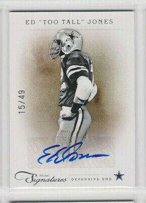 "Ed ""Too Tall"" Jones 2011 Prime Signatures Autograph #58 Cowboys SILVER Auto /49"