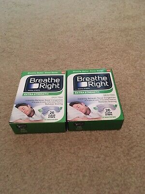 Breathe Right Strips Clear Extra Strength 26 ct (2 boxes)