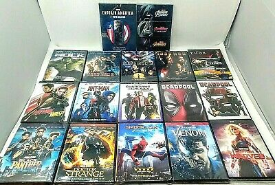Marvel Avengers Movie Collection DVD ~CHOOSE~ Thor Hulk Deadpool Venom etc. New!