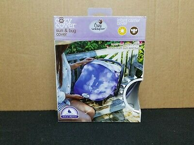 Cozy Cover - Summer Sun & Bug Cover - Infant Carrier Cover - Mesh - Purple