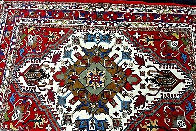 "GORGEOUS Patterned HAMADAN Oriental Rug 5'10"" x 4' 2"" Throw Carpet"