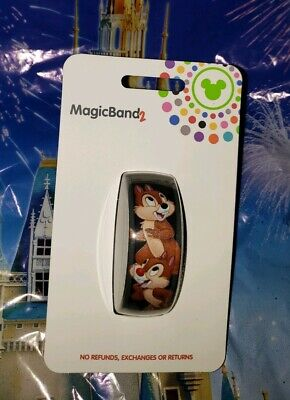 Disney Parks CHIP N' DALE CLASSIC Black Magic Band Magicband 2 New Acorns &