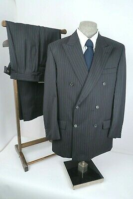 Joseph & Feiss Charcoal PINSTRIPE FINE WOOL Mens SUIT 42R 42 R 36x31~PRISTINE~