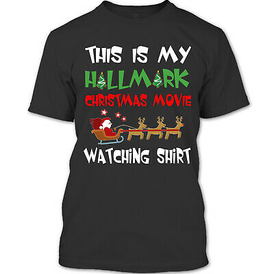 This Is My Hallmark Christmas Movie Watching T Shirt, Santa Merry Chirstmas