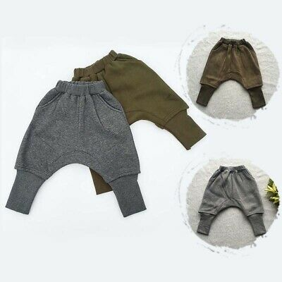Baby Boys Girls Warm Fleece Lined Harem Kids Child Thicken Casual Pants Trousers